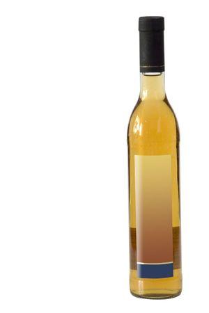 sake: Una botella de motivo aislada en blanco