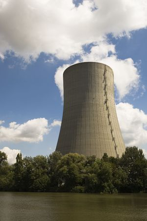 fueled: Huge cooling tower of a coal fueled power station.