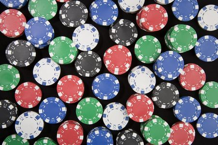 Large background made from a huge amount of poker chips. Stock Photo - 3610434