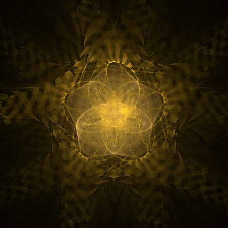 five pointed: Golden five pointed star abstract background render Stock Photo