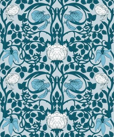 Floral vintage nahtlose Muster für Retro-Tapeten