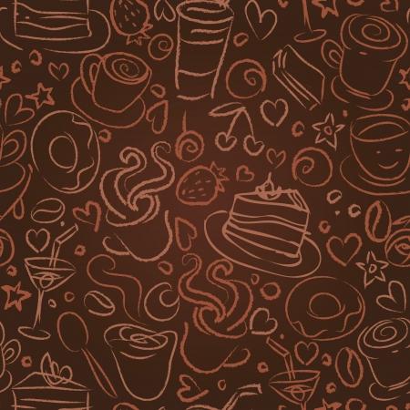 귀하의 디자인에 대 한 커피 타임, 원활한 배경 일러스트
