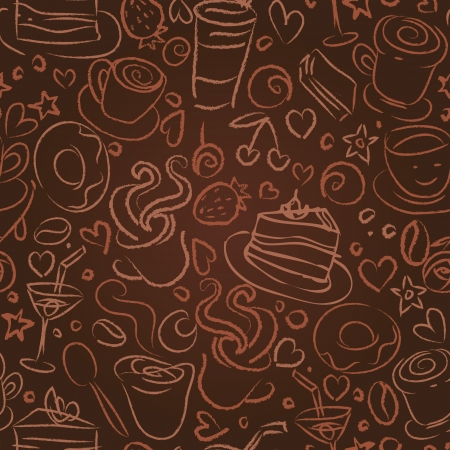 chocolat chaud: L'heure du caf?, fond transparent pour votre conception Illustration