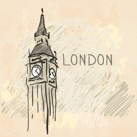 World famous landmark series: Big Ben, London, England Vector
