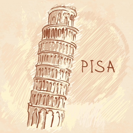 the leaning tower of pisa: World famous landmark series: The Leaning Tower, Pisa, Italy, Europe