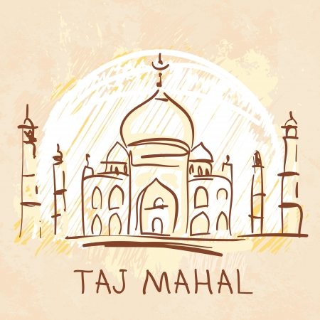 World famous landmark series: Taj Mahal, Agra, India Vector