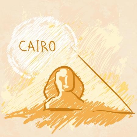 khafre: World famous landmark series: Pyramids and Sphinx, Cairo, Egypt