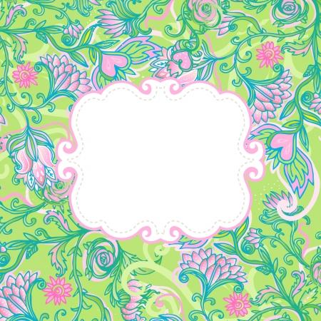 scroll work: Floral frame