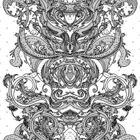Floral paisley indian colorful ornate seamless pattern Stock Vector - 24566932