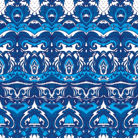 Floral paisley indian colorful ornate seamless pattern  Stock Vector - 24566970