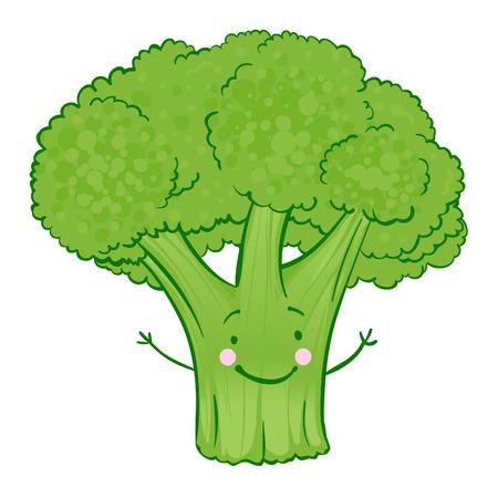Funny vegetables vector icon set , broccoli Vector