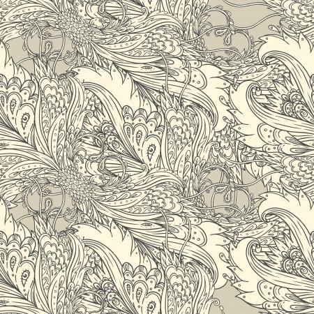black branch: Seamless floral background