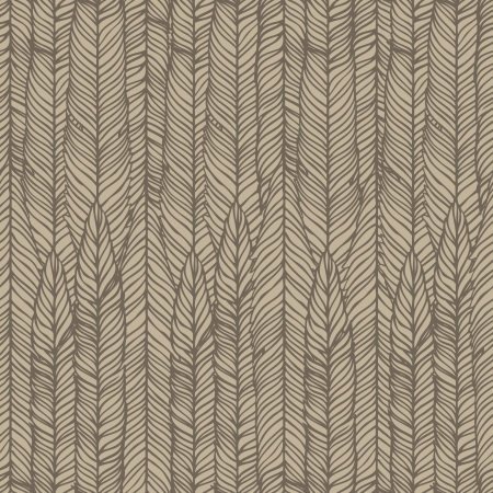 Seamless abstract hand-drawn pattern, waves background.  Vector