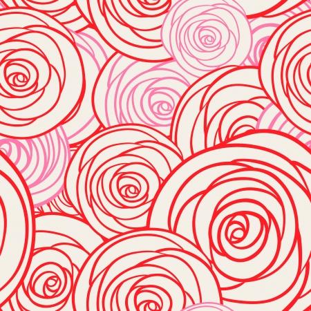 Roses seamless pattern, vector illustration Vector