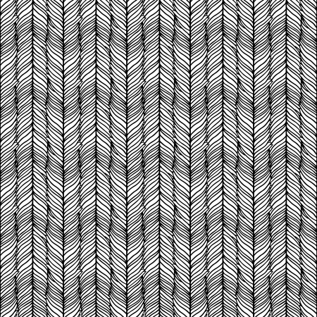 Optical illusion: Black and white abstract seamless pattern  Vector