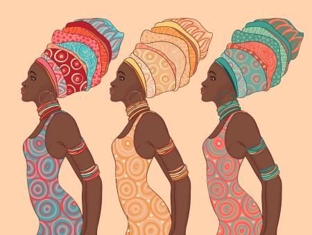 伝統的なターバンでかなりアフリカ系アメリカ人の女性。