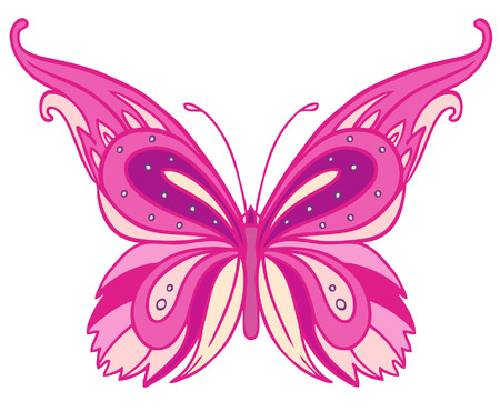 Paisley butterfly. Hand-Drawn ornate vector illustration design element.  Vector
