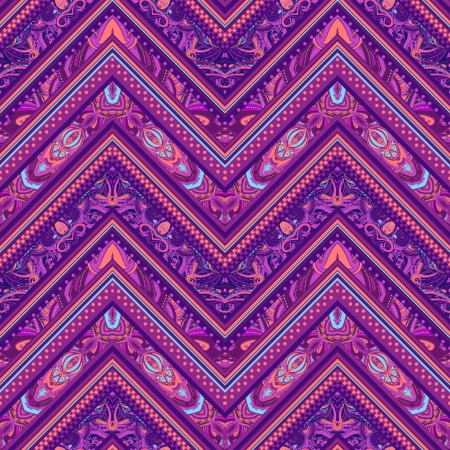 Ethnic  pattern in retro colors, aztec style seamless vector background  Illustration
