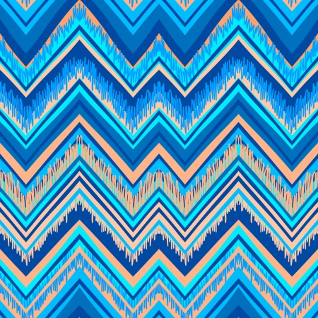 zig zag: Ethnic  pattern in retro colors, aztec style seamless vector background  Illustration