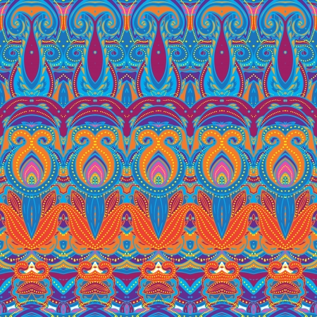 motifs: Ethnic  pattern in retro colors, aztec style seamless vector background  Illustration