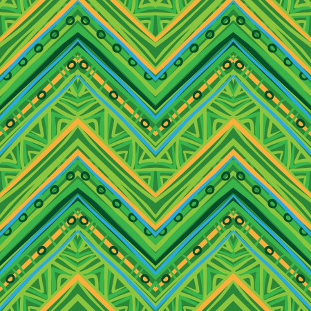 Ethnic  pattern in retro colors, aztec style seamless vector background  Иллюстрация