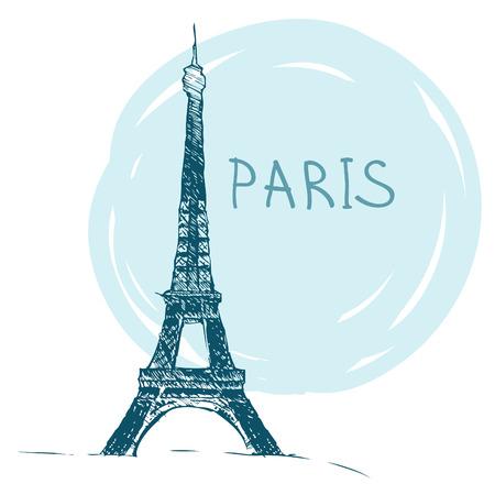 Touring: Światowej sławy seria punkt orientacyjny: Wieża Eiffla, Paryż, Francja