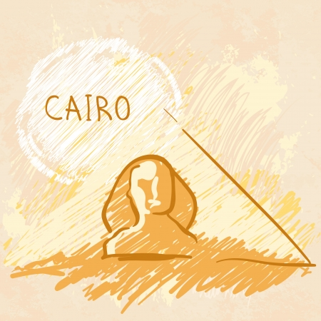 khafre: World famous landmark series: Pyramids and Sphinx, Cairo, Egypt