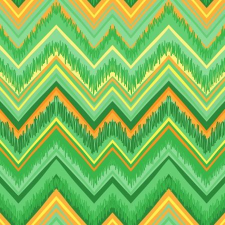 Ethnic  pattern in retro colors, aztec style seamless vector background  Ilustração