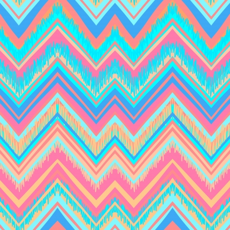 Ethnic pattern in retro colors, aztec style seamless vector background