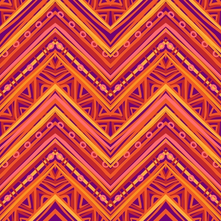 pile of paper: Ethnic  pattern in retro colors, aztec style seamless vector background  Illustration