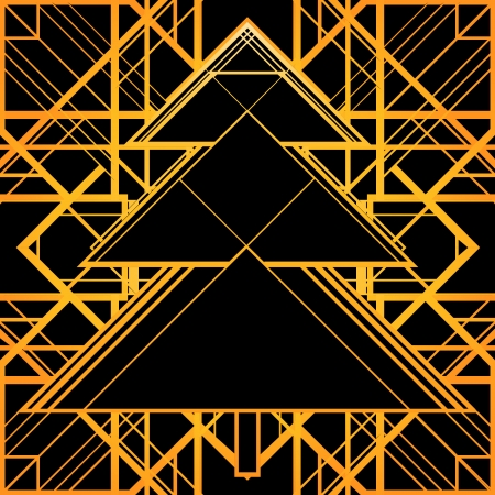 intersecting: Christmas greeting card background. Black and gold.
