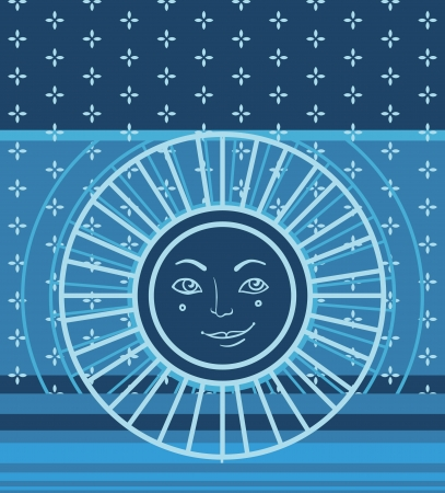 hape: Vector seamless pattern geometrico con il simbolo del sole Vettoriali