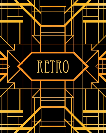 twenties: Vintage background. Retro style frame