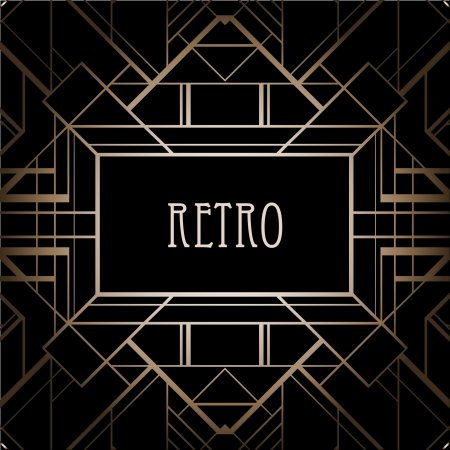 '20s': Vintage background. Retro style frame.