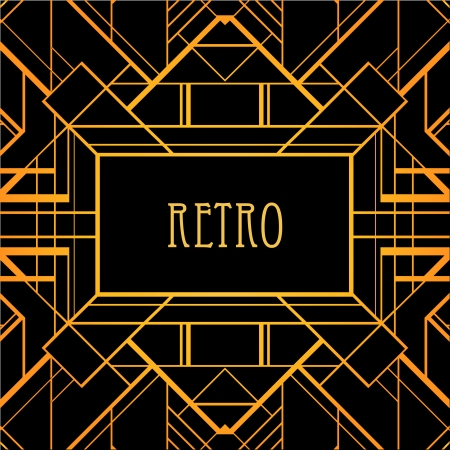 Vintage background. Retro style frame.  Illustration