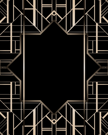 20s: Vintage background. Retro style frame.  Illustration