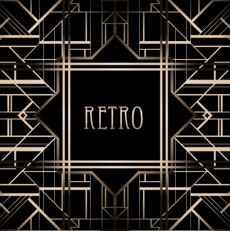 great: Vintage background. Retro style frame