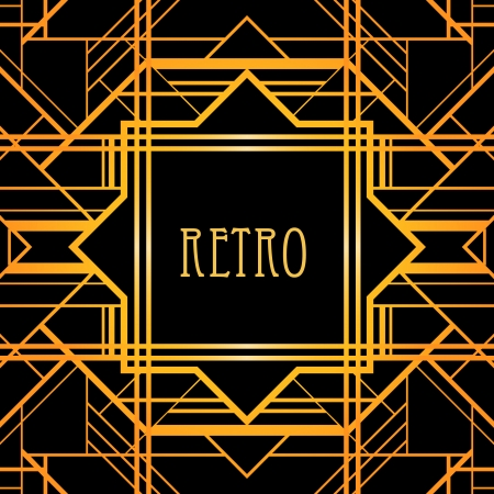 Vintage background. Retro style frame.  Vector