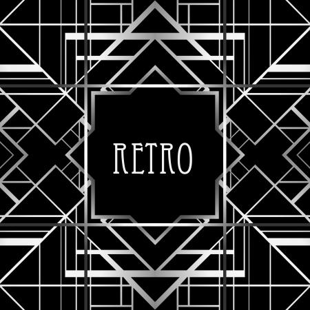 art deco frame: Vintage background. Retro style frame.