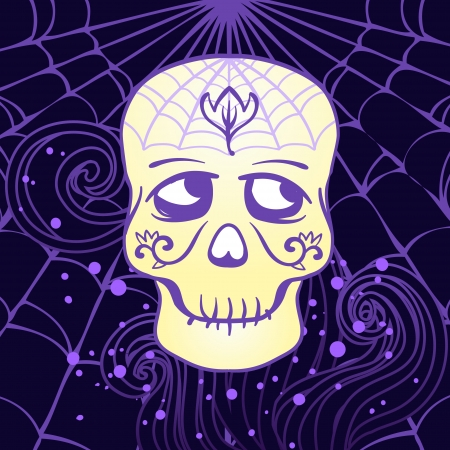 springe: Halloween illustration: Sugar Skull design element in vector Illustration