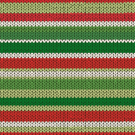 stripe striped: Seamless Knitted Striped Pattern. Vector Illustration.