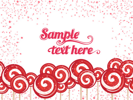 Candy lollipops background frame