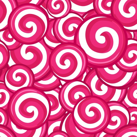 candy cane: Candy lollipops seamless pattern background, vector illustration Illustration