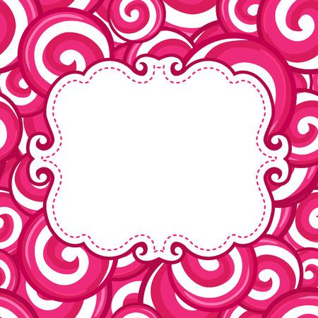item: Candy lollipops background, vector illustration Illustration