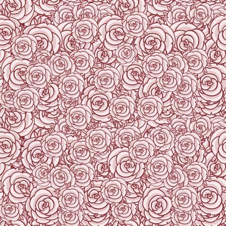Rosen nahtlose Muster, Vektor-Illustration