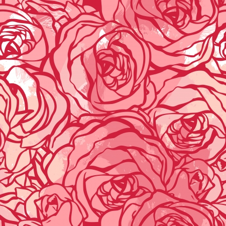 Roses seamless pattern, vector illustration Vector