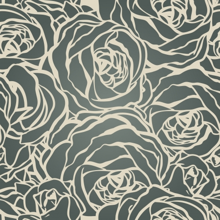 pattern: Roses seamless pattern, vector illustration Illustration