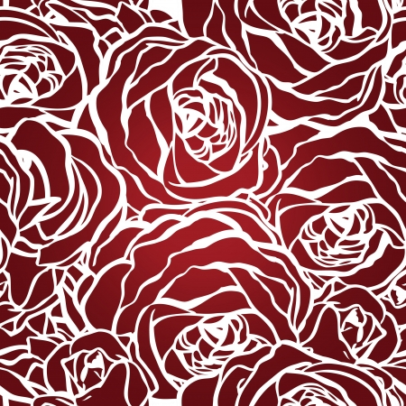 Roses seamless pattern, vector illustration Illustration