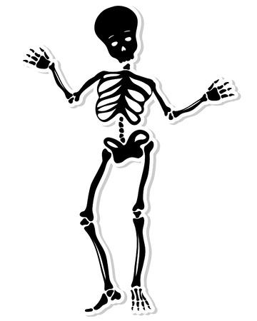Dancing Skeleton. Vector Illustration. Vector