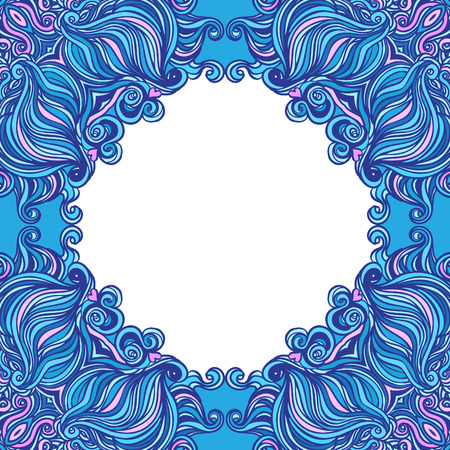 Squared ornamental floral paisley pattern. Good design for bandanna, carpet, shawl, pillow or cushion  Vector